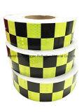격자 원형 사려깊은 안전 경고 Checkered 테이프