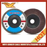 5 '' disques abrasifs d'aileron d'oxyde d'aluminium (couverture 24*15mm de fibre de verre)
