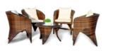 Presidenza esterna di svago della mobilia del rattan e Table-6