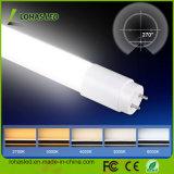 높은 루멘 7W 9W 18W 24W 25W 2FT 4FT 5FT T5 T8 알루미늄 찬 온난한 백색 LED 관 빛