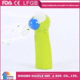 Ventilador portátil elétrico da mão plástica a pilhas mini