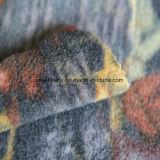 Печать флис ткань с листьями дизайна