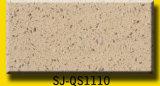 Pedra de quartzo bege com padrão Plica