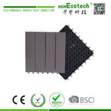 Base de plástico compósito de madeira de intertravamento da plataforma de bricolage telhas