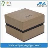 Personalizado Jóias Gift Luxury Ring Embalagem de madeira como caixa de embalagem com gravação em relevo