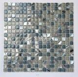 淡水のシェルおよび大理石およびガラス15*15モザイク