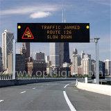Signe dynamique extérieur de message de l'étalage DEL, panneaux polychromes de signe de route de l'étalage DEL de contrôle de trafic