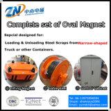 Ímã de descarga de caminhões de instalação da grua com capacidade de elevação 6000 Kg lingote de fundição MW61-350220L/1-75