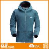 Мужской моды полярных флис удлиненной худи зимние куртки