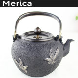 Teiera classica cinese del POT del tè dell'ottone e del ferro