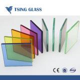 다채로운 PVB 안전 유리를 가진 박판으로 만들어진 유리를 단단하게 하십시오