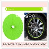 Protector universal de los bordes de la rueda de la aleación del coche del uso