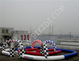 Aufblasbar gehen Karts Race Track, Outdoor Inflatable Race Track für Zorbing Ball B6054