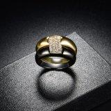 Ring van de Band van de Toebehoren van de Manier van het zwarte en Gouden Plateren de Dubbele