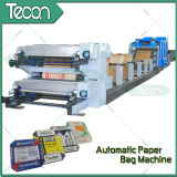 Bolsa de papel del cemento que hace la máquina con la impresión en color 4 en línea