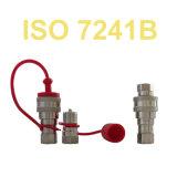 Rostfreier Koppler-Hydraulikanlage zerteilt schnelle Freigabe-Kupplungen ISO 7241b Qrc