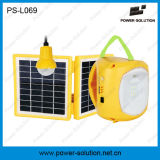 Portable panneau solaire de Shenzhen avec lumière LED pour maisons Lanterne solaire avec chargeur de téléphone portable une ampoule (PS-L069)