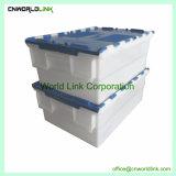 600x420x250mm arrumação fácil Currugated Domésticos Engradado de tampa acoplada de plástico