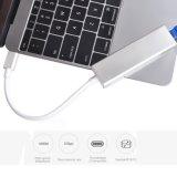 USB TIPO C Cubo Adaptador Ethrenet - USB C 3.1 para RJ45 fios LAN Gigabit Ethernet de rede com 3 porta-cubo adaptador conversor USB 3.0 para dispositivos do tipo C Novo MacBook
