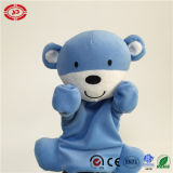 Baby Funny Hand Puppet를 가진 곰 Blue Adorable Emotion Talk