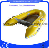 bateau de pêche gonflable de /Clear de bateau de polycarbonate transparent de 2.0m-3.3m