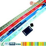 Изготовленный на заказ браслет wristband NFC ткани сплетенный тканью RFID для празднества случаев