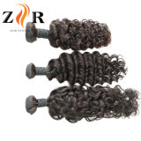 自然な波状の束の加工されていないインドの寺院のバージンの毛の織り方
