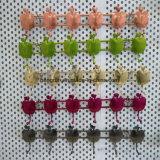 벽 외투 선반 외투는 구부린다 옷 또는 키 (6개의 훅)를 위한 잘 고정된 외투 선반을