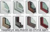 Du grain du bois à battants en aluminium revêtu de film couleur de fenêtre en verre (ACW-040)