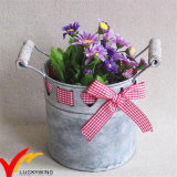 Décor de ruban Oblong Galvanized Antique Metal Flower Planter