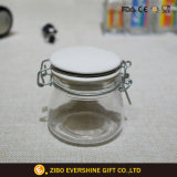 De Kruik van de Opslag van het glas met het Deksel van het Roestvrij staal voor Kruid