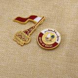 Emblème de badge en or personnalisé avec support de carte papier