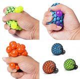 O punho de reforço da contracção de alívio de tensões de malha de uvas de ventilação em borracha macia bolas Squishy Toy