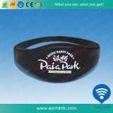 Imperméabiliser le bracelet de silicones de tag RFID de 13.56 mégahertz