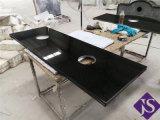 Популярные абсолютной черного гранита и слоя керамической плитки для ванной на кухне место на кухонном столе
