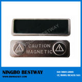 Logotipo personalizado nombre de la insignia magnética