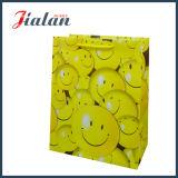 Sacco di carta poco costoso stampato fronte di basso costo dei commerci all'ingrosso su ordinazione di sorriso