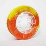 Changement de température de l'ABS 3D couleur filament d'impression pour 1,75 mm