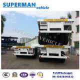半熱い販売容器のための頑丈な40FTのトラックのトレーラーか平面または貨物