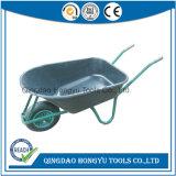 Hot vender bandeja de plástico con rueda neumática carretilla de mano (WB6414L)