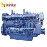 Best Seller 400CV diesel marinos motor Weichai Serie 170 6 cilindros del motor de barco