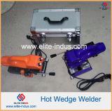 LLDPE HDPE geomembrana de PVC de superposición de cuña de plástico caliente soldador