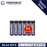 1.5V China Fabrik-Zink-Kohlenstoff-Batterie-Großhandelspreis (R03-AAA 6PCS)