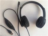 Receptor de cabeza claro acústico del tubo del Mic del auricular portuario del ordenador del USB de Volp
