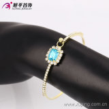 Environmental Copper 51401에 있는 Rhinestone를 가진 형식 Elegant 14k 금 Plated Women Bangle
