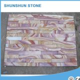 자연적인 노란 베이지색 문화 슬레이트 돌 도와