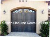 Porta de aço seccionais Wholesales ferro forjado Design da Porta da Garagem