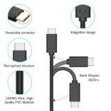 USB C 3.0 ad un tipo cavo di C che carica il cavo del cavo di sincronizzazione per l'interruttore della Nintendo, galassia S8/S8+ di Samsung