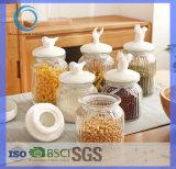 vaso di vetro di multi memoria funzionale 200ml-800ml con il coperchio di ceramica