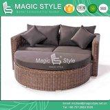 Плетеная кушеткой плетеную мебель для загара солярий многоместного кровать для отдыха кушеткой двойной диван - кровать балкон, кровать деки садовой мебелью мебелью (Magic Style)